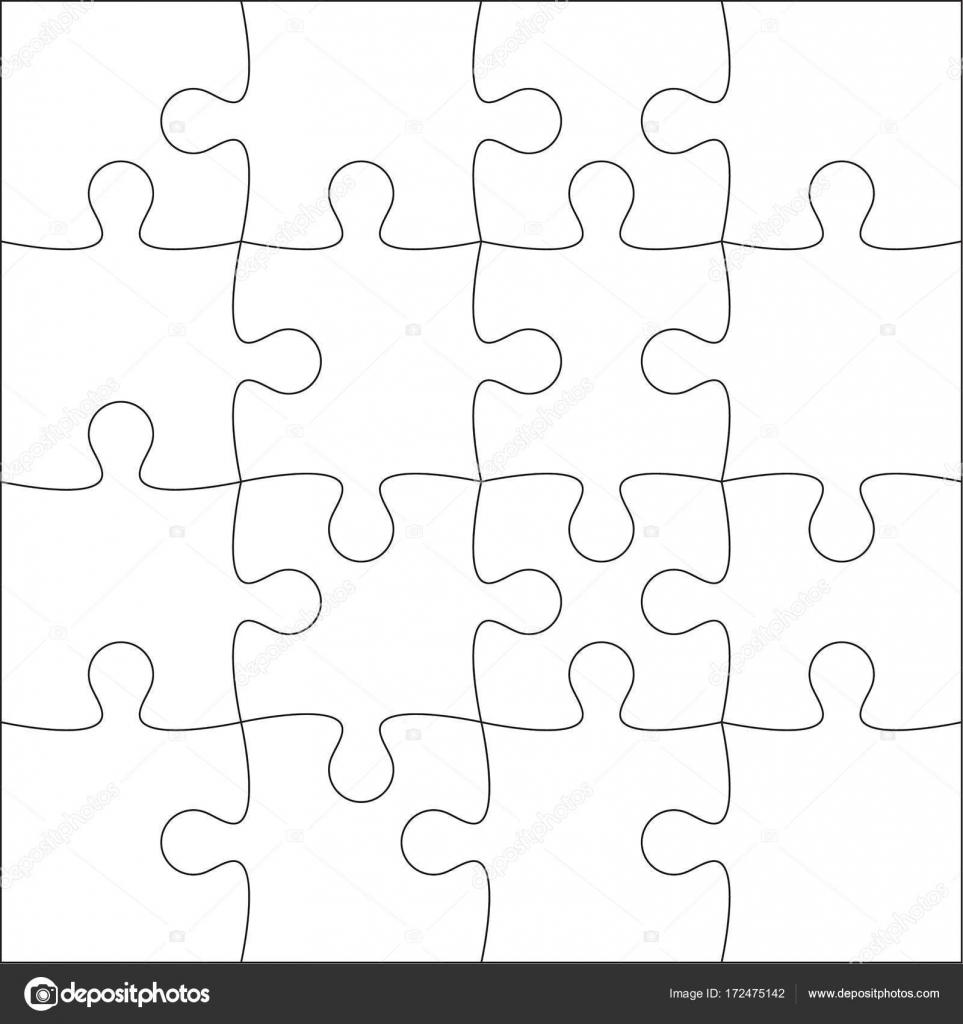 rompecabezas en blanco — Vector de stock © sumkinn #172475142