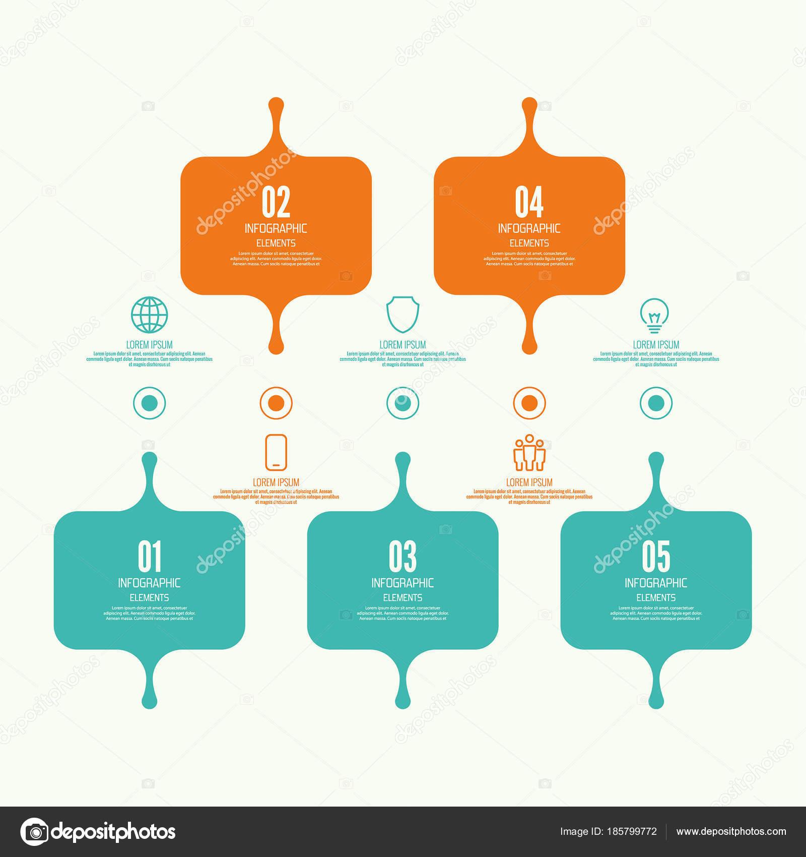 f2a444be941e64 Tableau comparatif avec la bannière de présentation, formes informatives.  Option de l infographie. Tableau d informations processus étape par étape.
