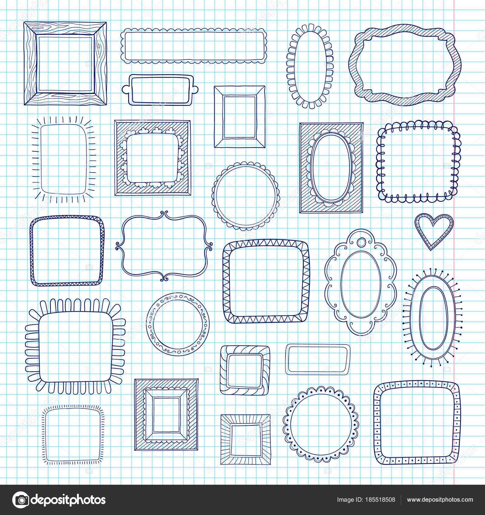 Fotos Marcos Para Cuadernos Conjunto De Vector De Lindo