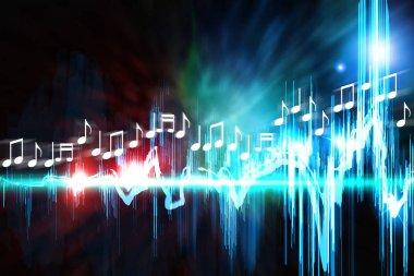 Neon Soundwave Notes