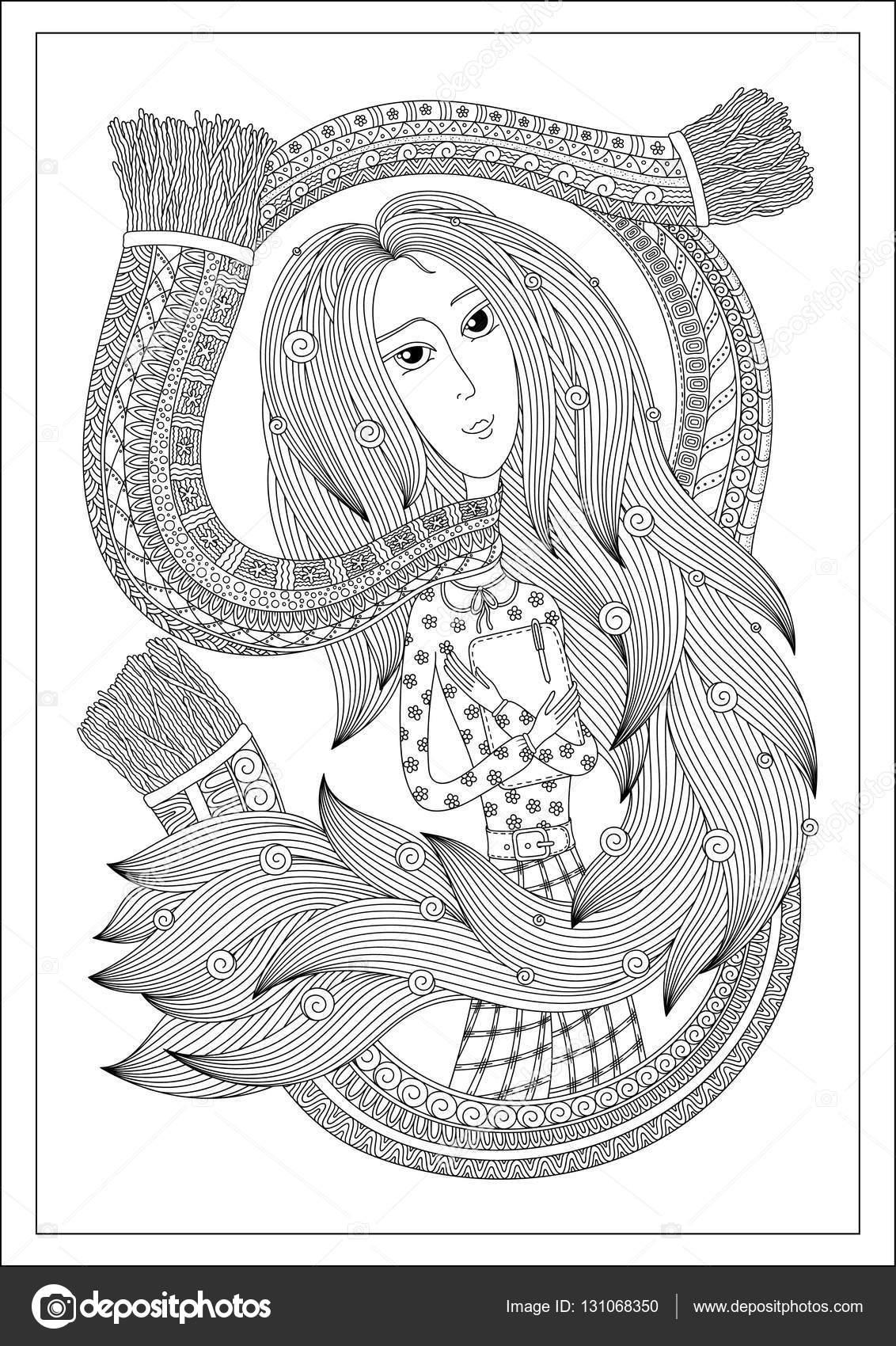 Patrón para colorear libro — Vector de stock © karpenyuk #131068350