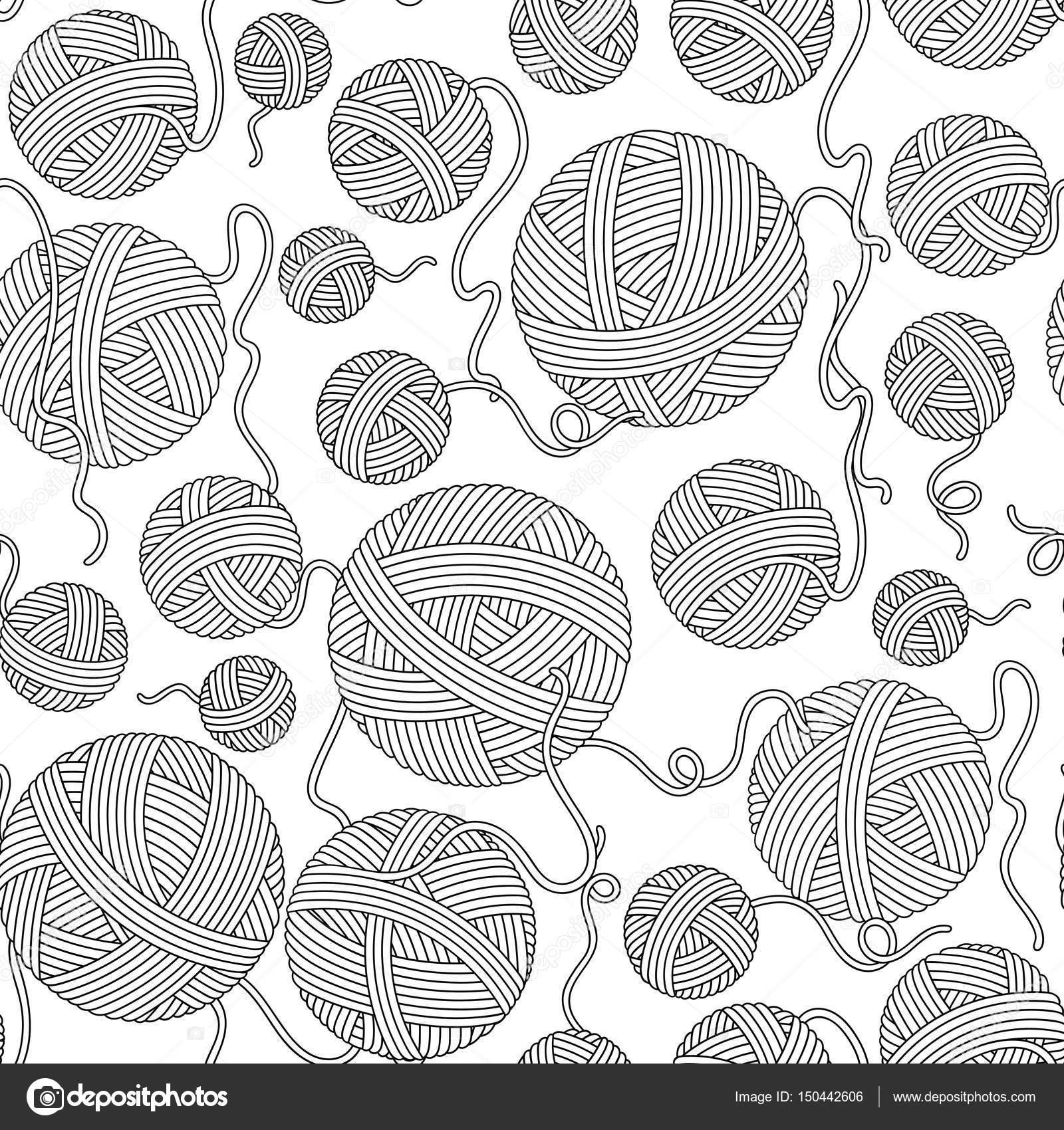 Seamless pattern for coloring book. — Stock Vector © karpenyuk ...