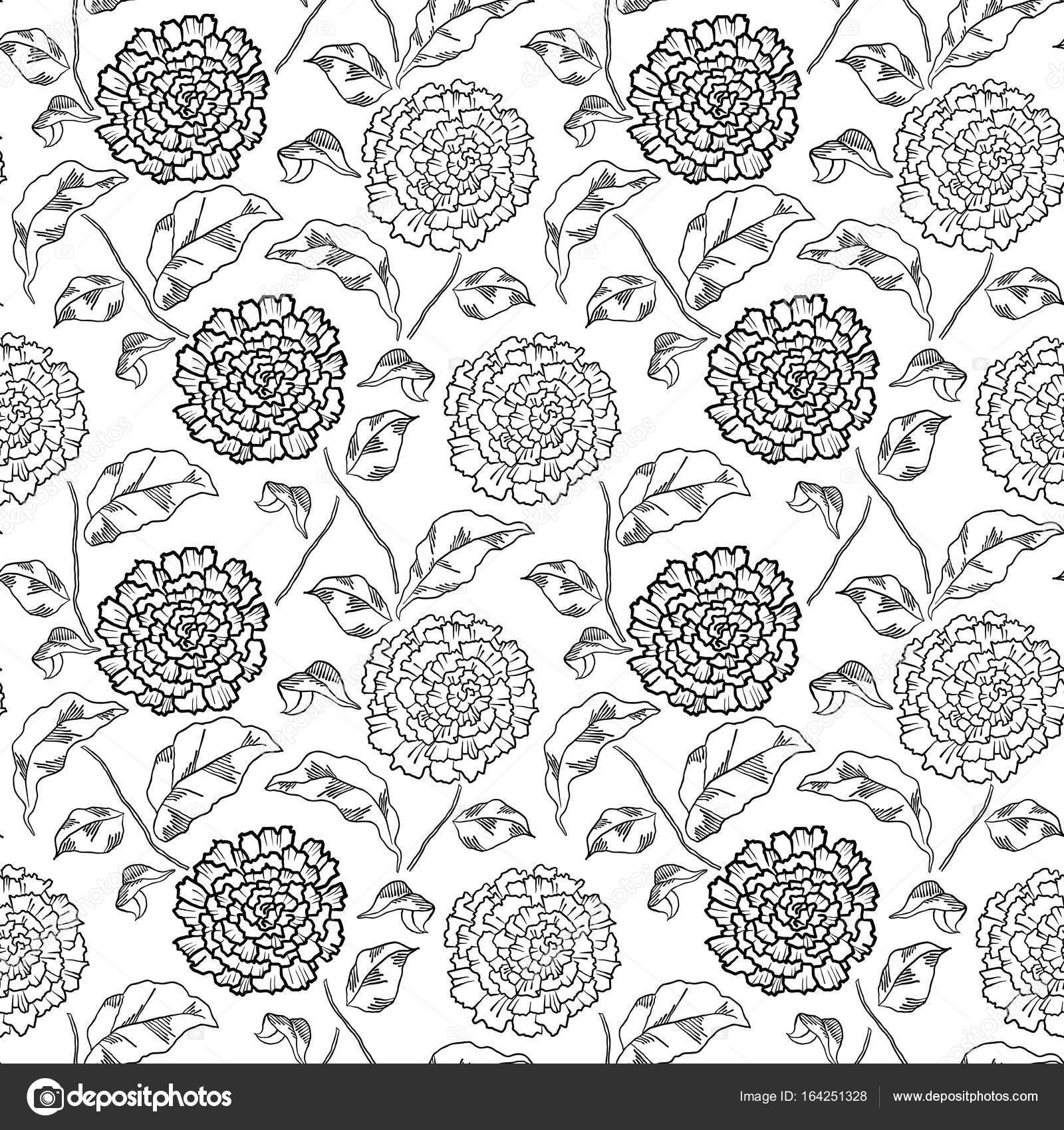Patrón con flores abstractas. Página de libro para colorear — Vector ...