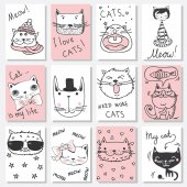Photo cards with cats avatars