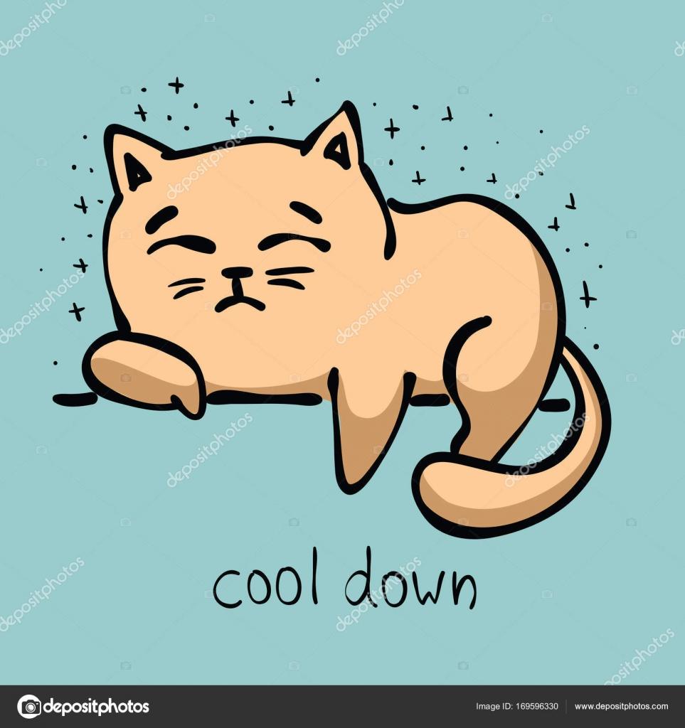 Cat Stock Quote Doodle Cat Icon  Stock Vector © Virinaflora 169596330