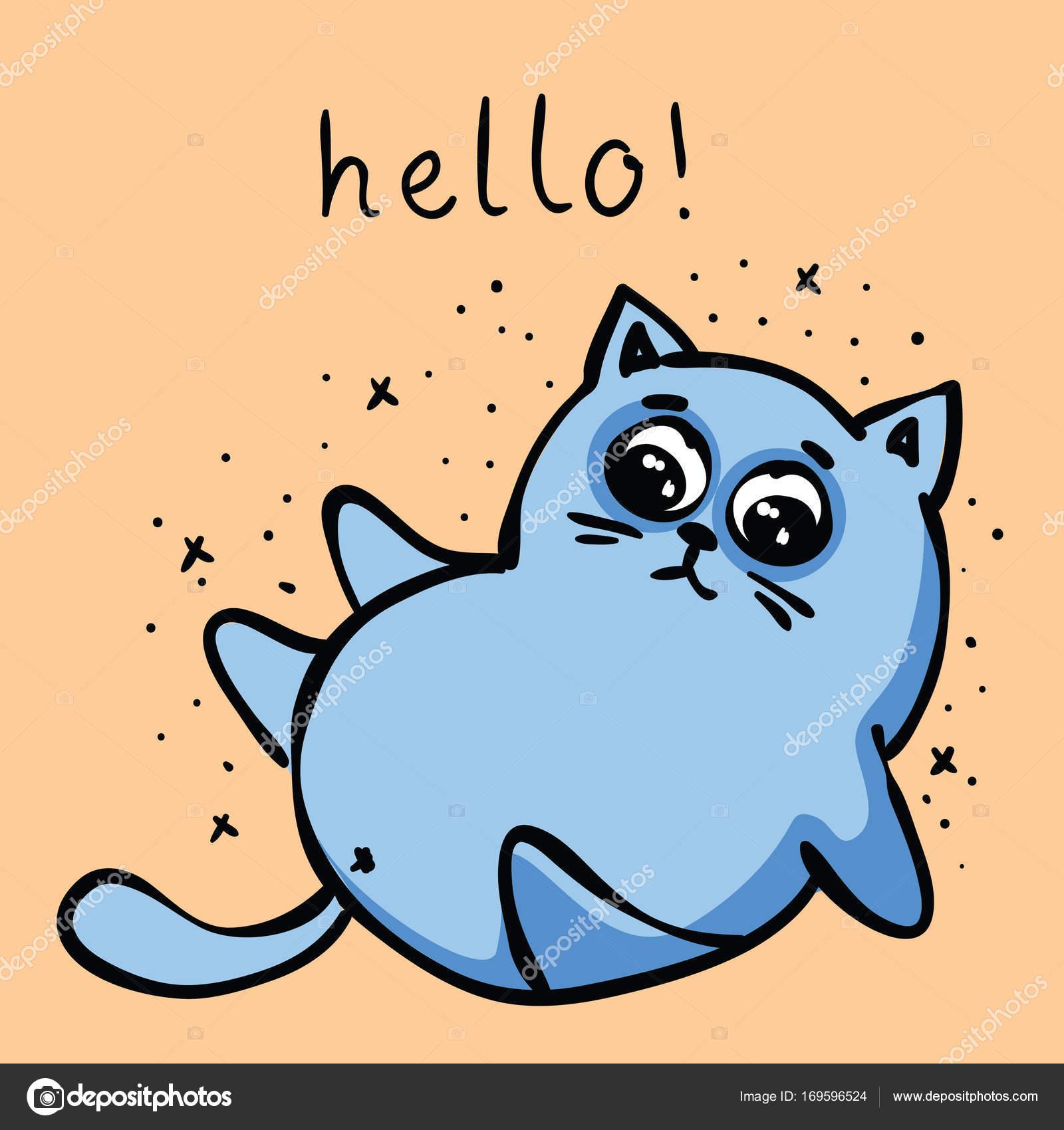 Cat Stock Quote Doodle Cat Icon  Stock Vector © Virinaflora 169596524