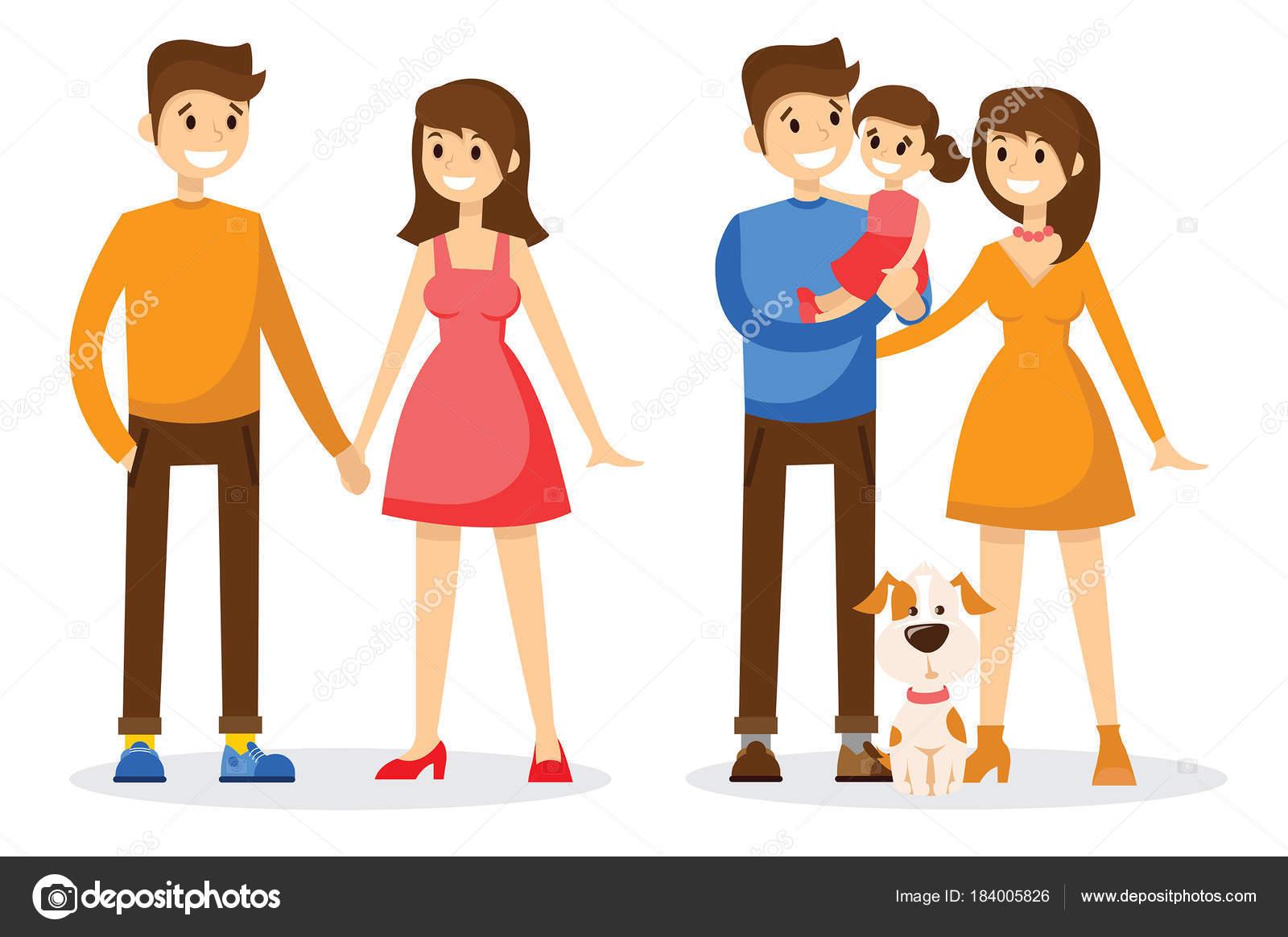Imágenes Animadas De Toda La Familia Vector Ilustración Diseño