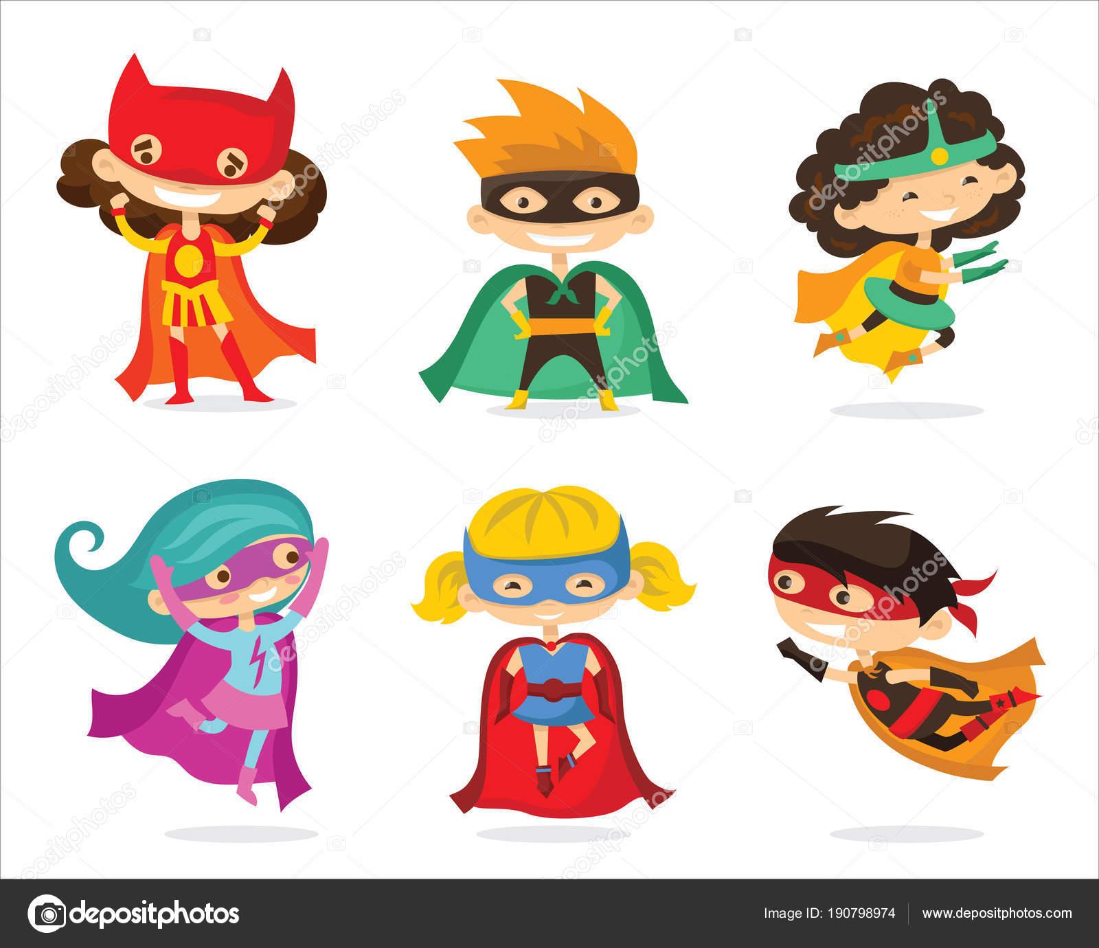ilustraci u00f3n vector dibujos animados superheroes los ni u00f1os no homework pass clipart no homework pass clipart