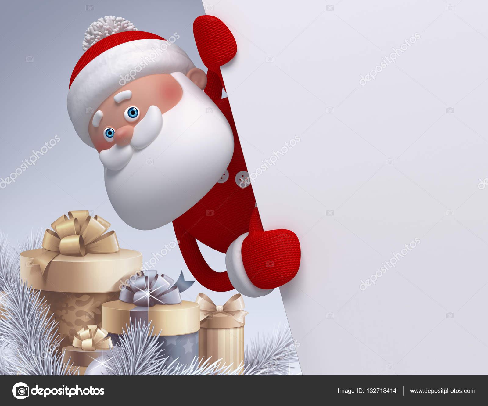 Render 3D, Ilustración Digital, Personaje De Santa Claus