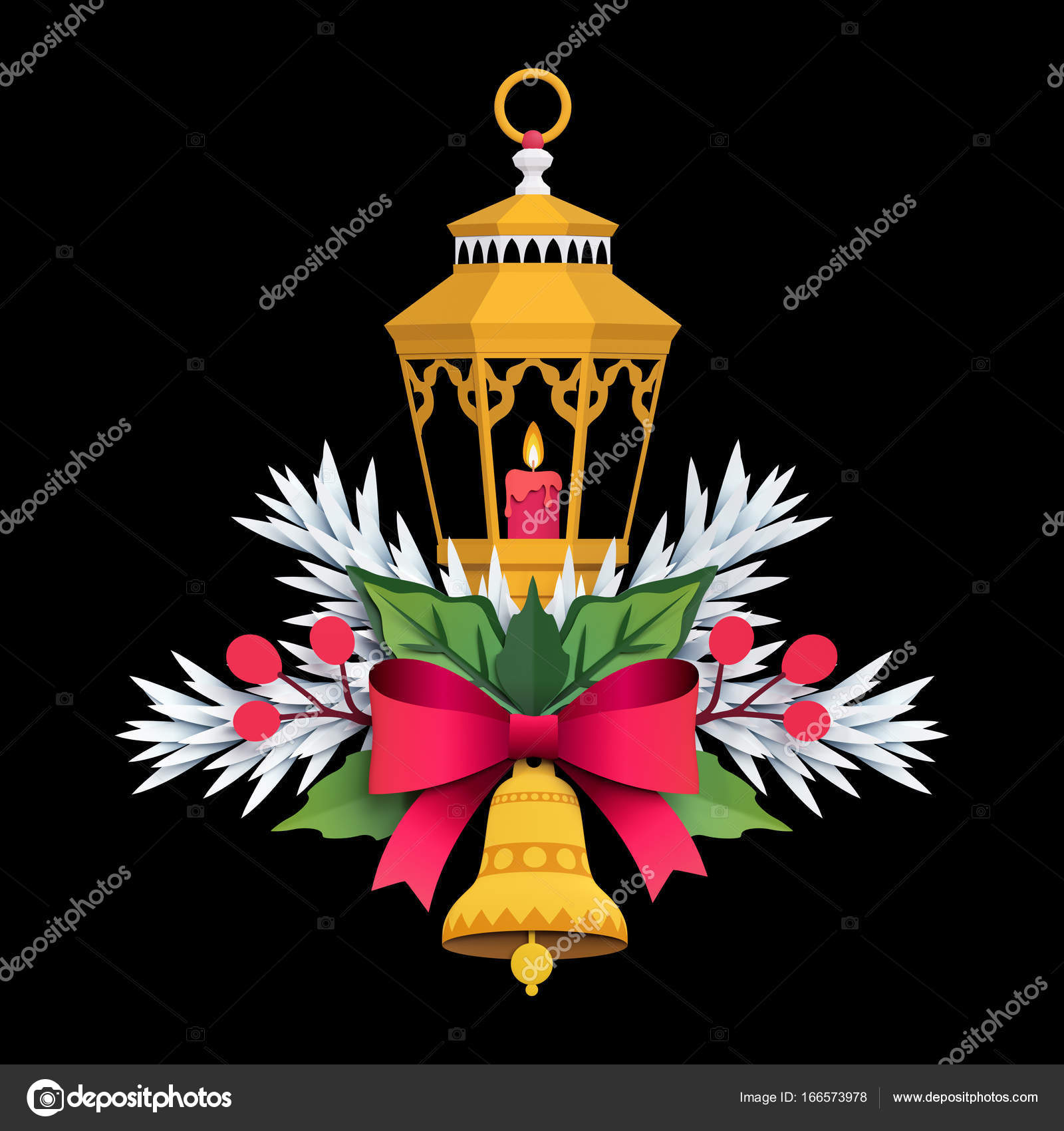 3d render christmas lantern isolated on black background paper 3d render christmas lantern isolated on black background paper cut festive ornament holiday decoration greeting card template photo by wacomka maxwellsz