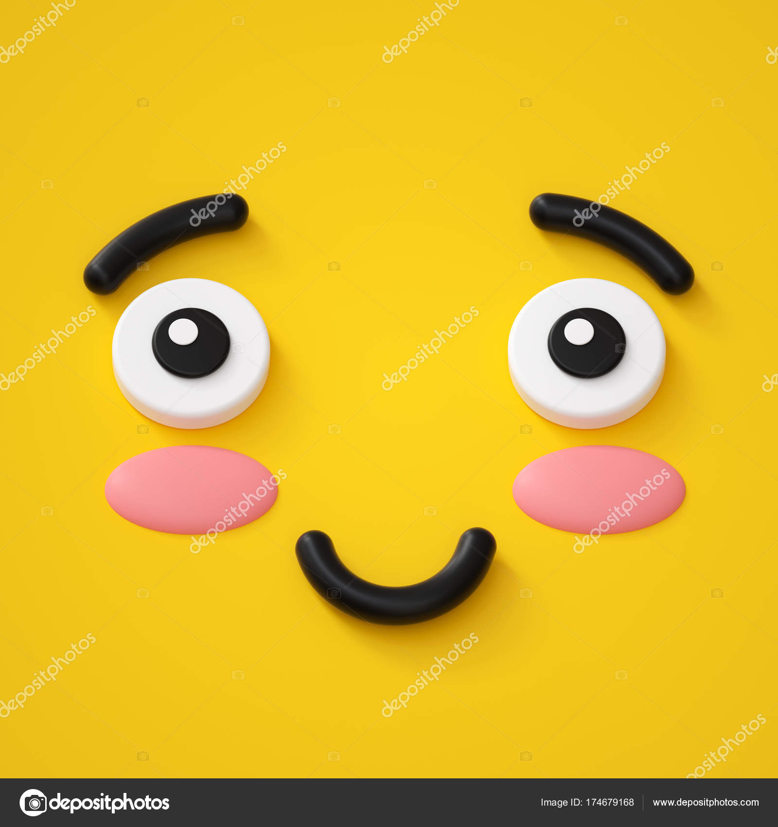 schüchterner Smiley Emoticon