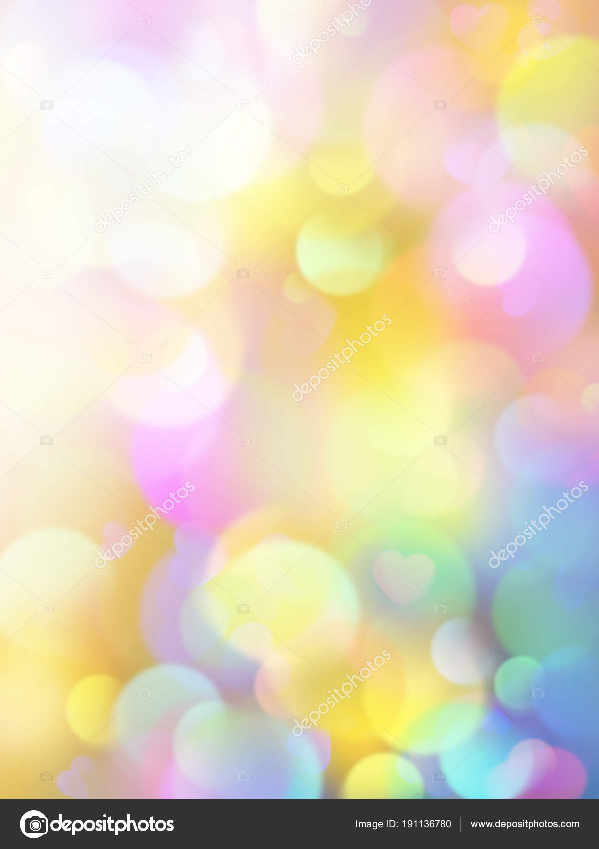 abstract bokeh lights background, pastel wallpaper, vivid colorful