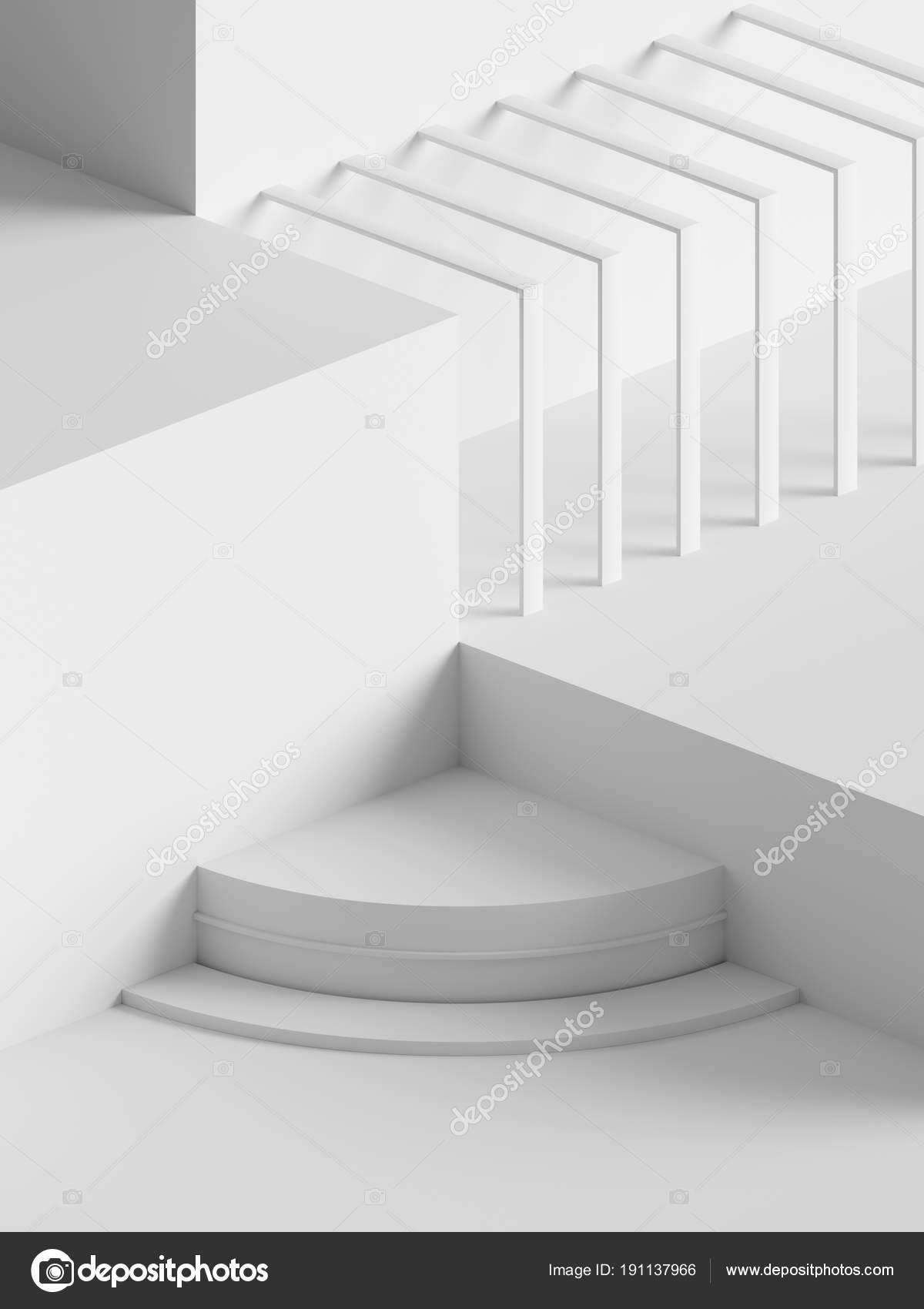 3d Rendering Moderne Abstracte Geometrische Achtergrond