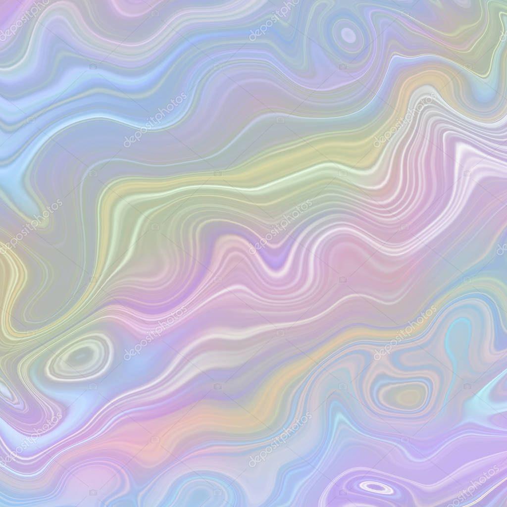 Pastello Sfondo Olografico Carta Da Parati Multicolore Opale
