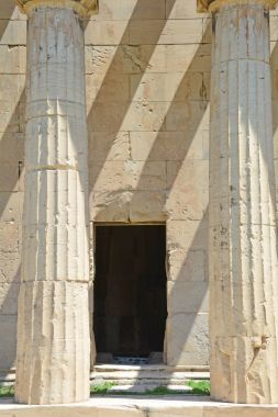 Doorway into the ancient Greek Temple