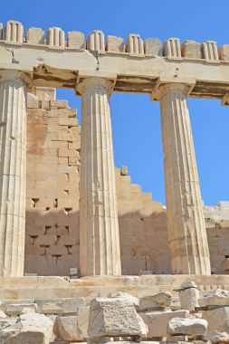 The North side of the Parthenon on the Athens Acropolis