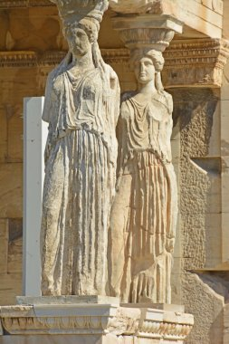 Detail of the famous caryatid porch