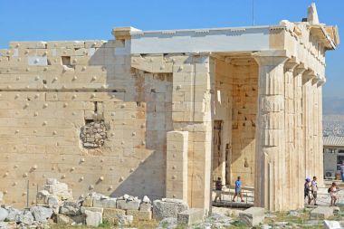 The ancient Propylae or monumental gateway