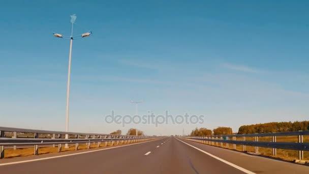 Travel around Europe by car. Mounted camera, POV view.