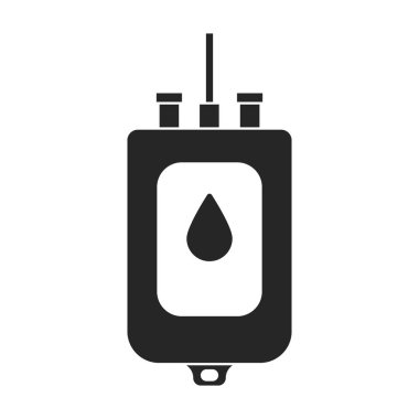 Transfusion of blood vector icon.Black.simple vector logo isolated on white background transfusion of blood. icon