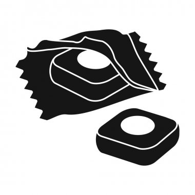 Cough of throat vector icon.Black vector logo isolated on white background cough of throat . icon