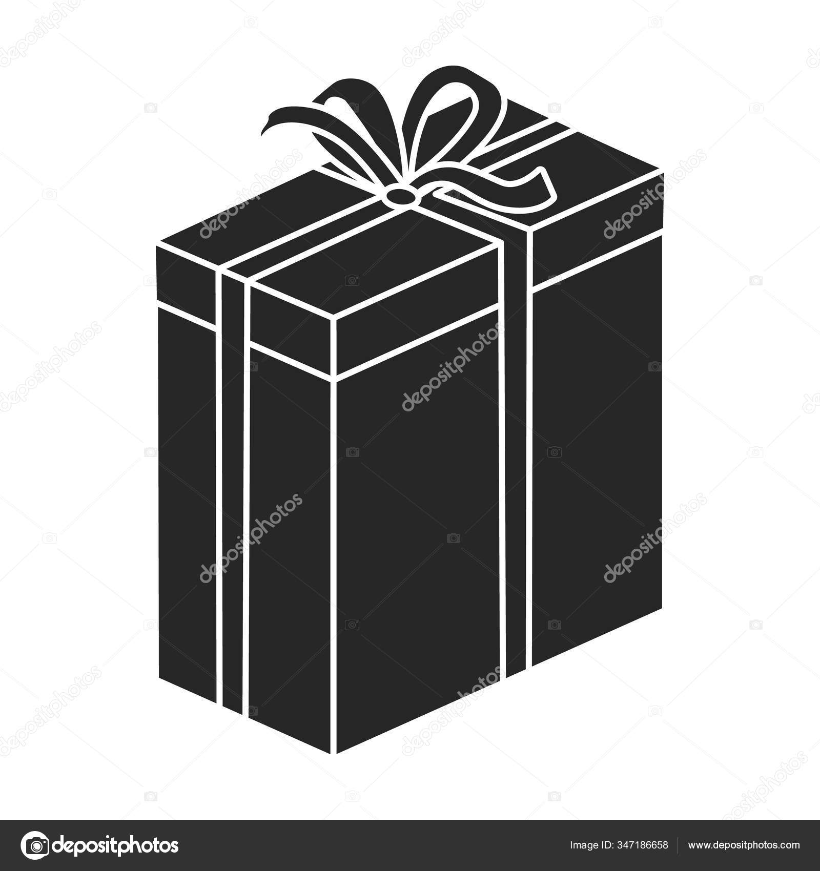Gift Box Vector Icon Black Vector Icon Isolated On White Background Gift Box Stock Vector C Magicleaf 347186658
