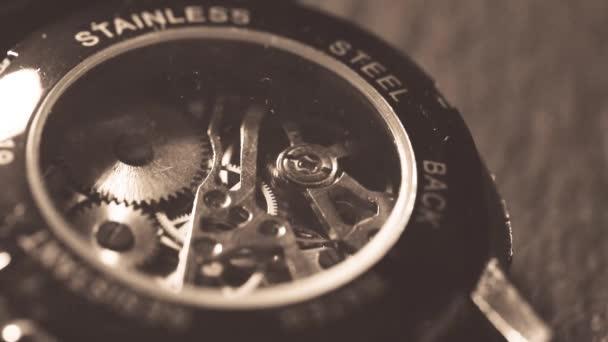 Pracovní mechanismus makra mechanických hodinek
