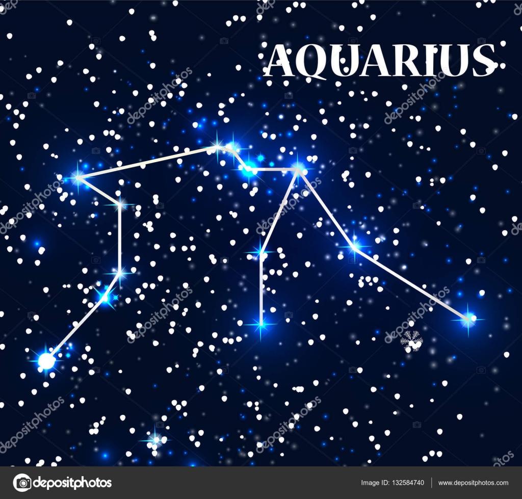 Symbol Aquarius Zodiac Sign Vector Illustration Stock Vector