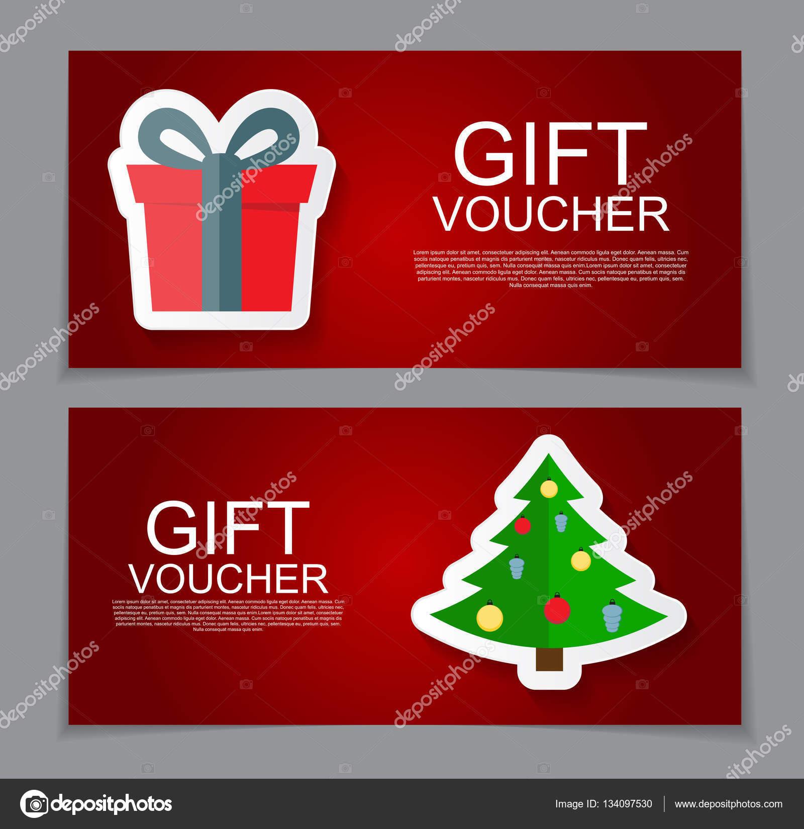 Geschenk Gutschein Vorlage Für Weihnachten Und Neujahr Rabatt