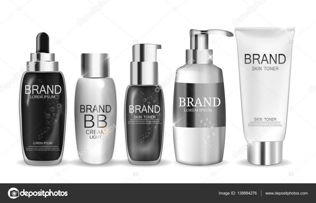 Sammlung von weißen Flasche Vorlage für anzeigen oder Magazin ...