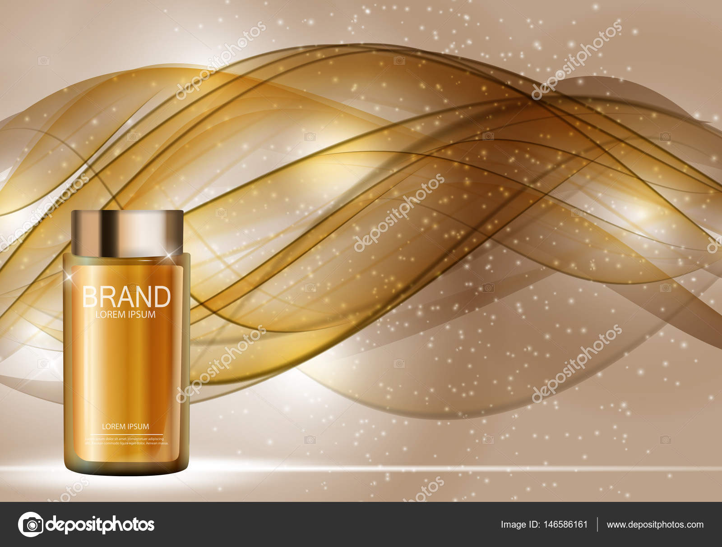 Plantilla de productos cosméticos de diseño para anuncios o fondo ...