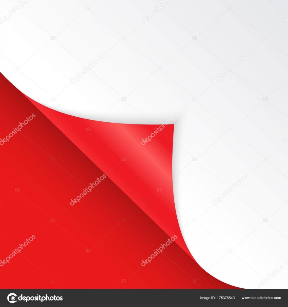 Forma de ángulo doblado es libre para llenar de color rojo ...