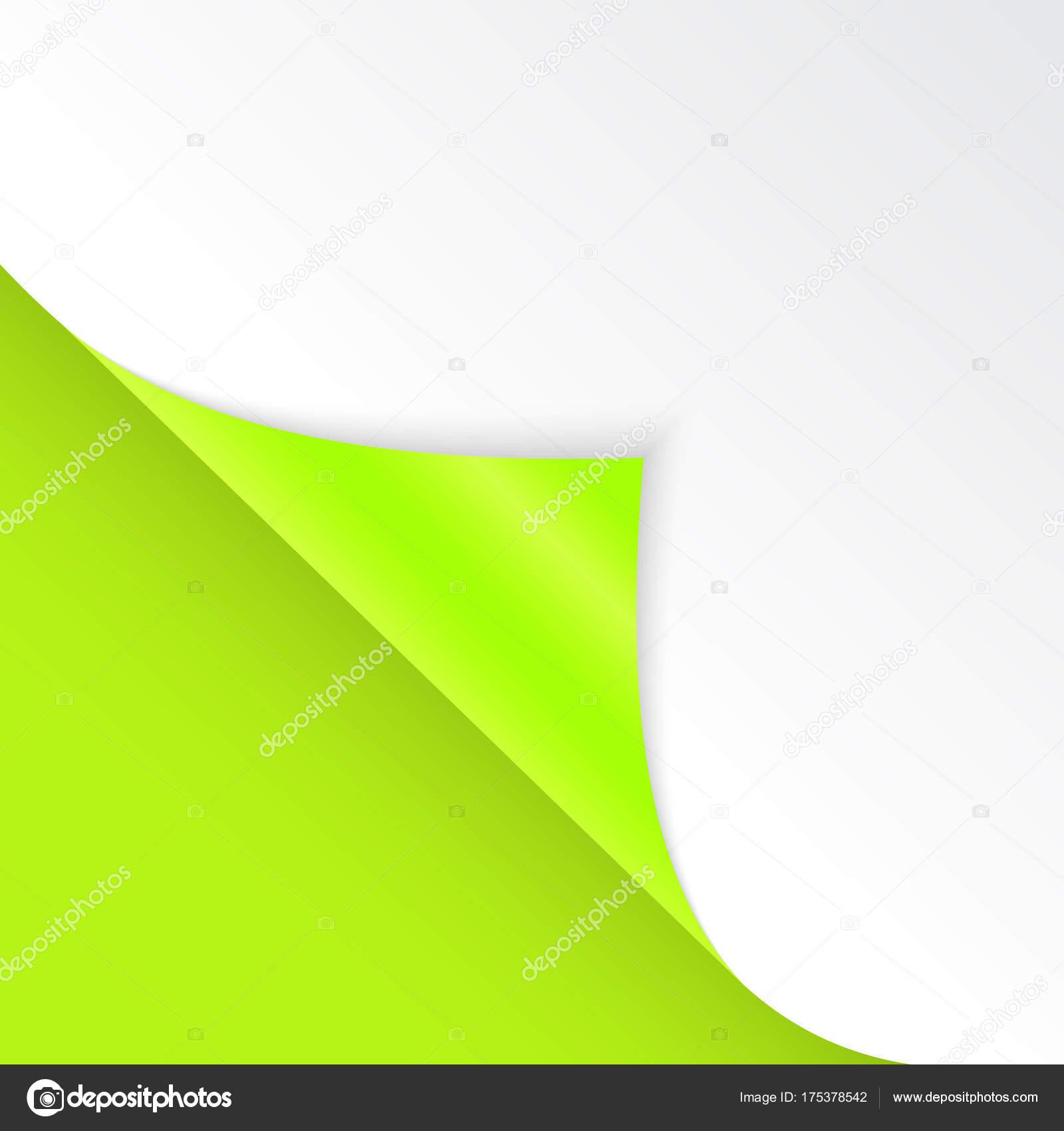 Forma de ángulo doblado es libre para llenar de color verde ...