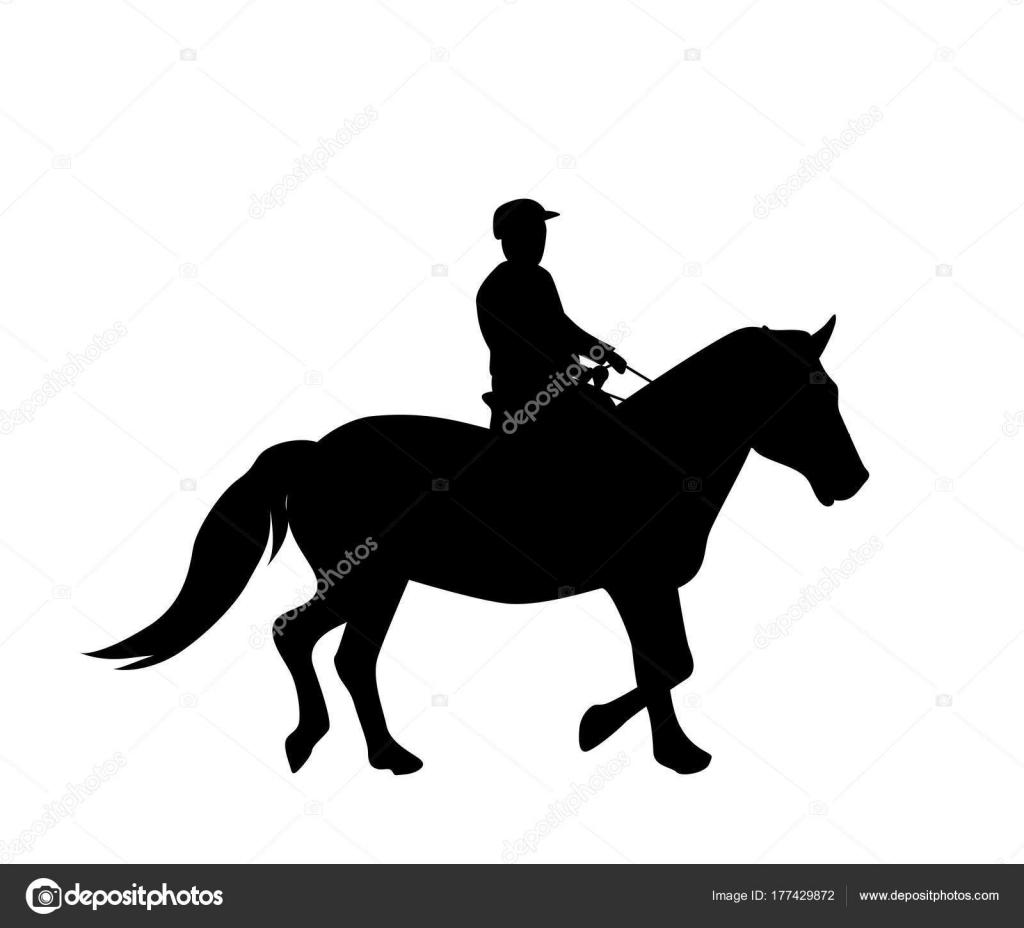 Aufkleber Für Auto Silhouette Reiter Auf Pferd Experte In