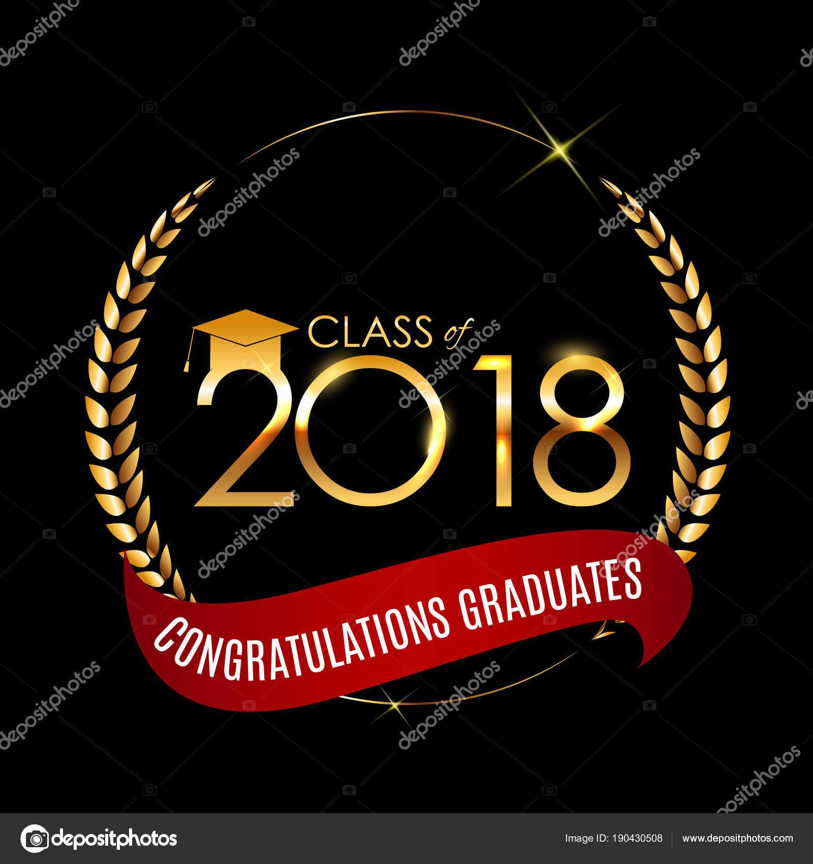 Herzlichen Glückwunsch Zum Abitur 2018 Klasse Hintergrund