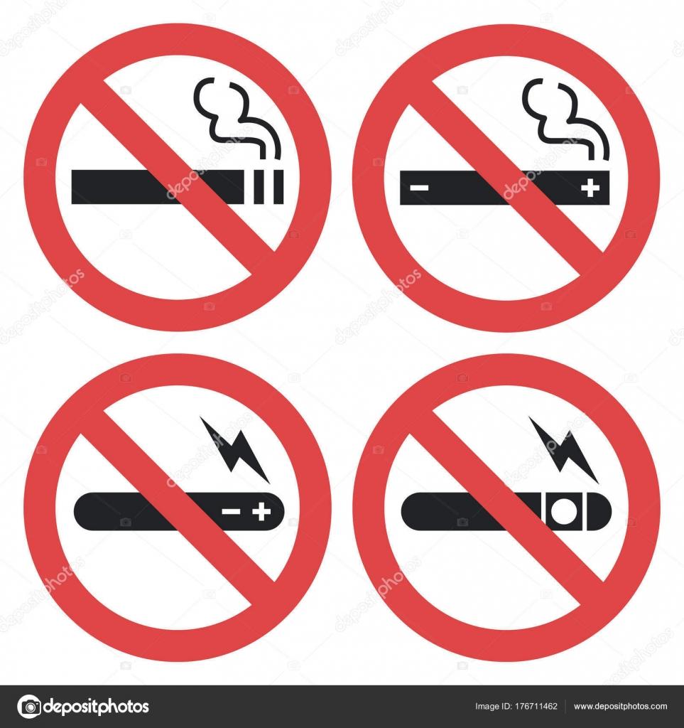 Vektor-Symbol set - dampfen verboten, rauchen elektronische ...