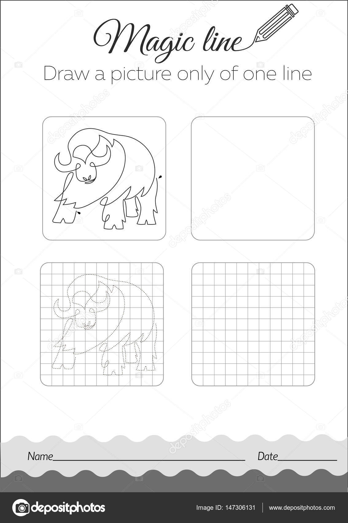 Búfalo del libro de colorante negro — Vector de stock © rodnikovay1 ...