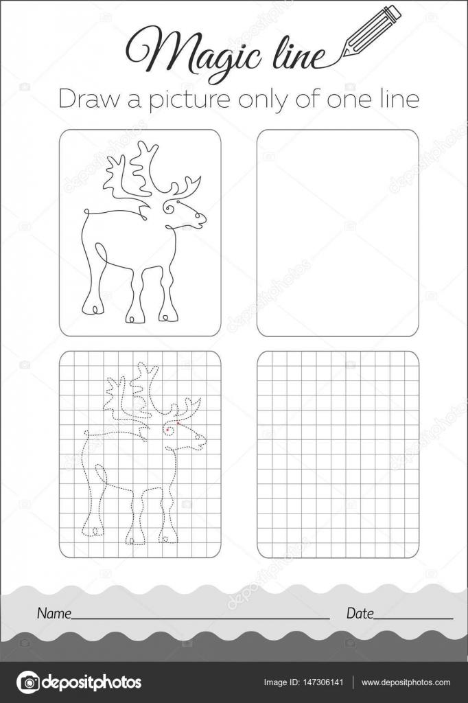 Ciervos del libro de colorante negro — Vector de stock © rodnikovay1 ...