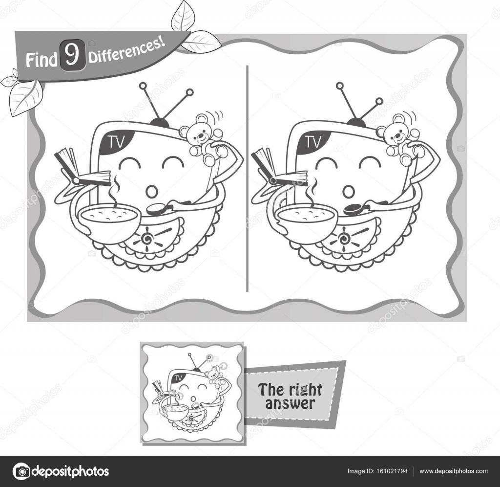 encontrar diferencias juego 9 de regalo tv — Archivo Imágenes ...