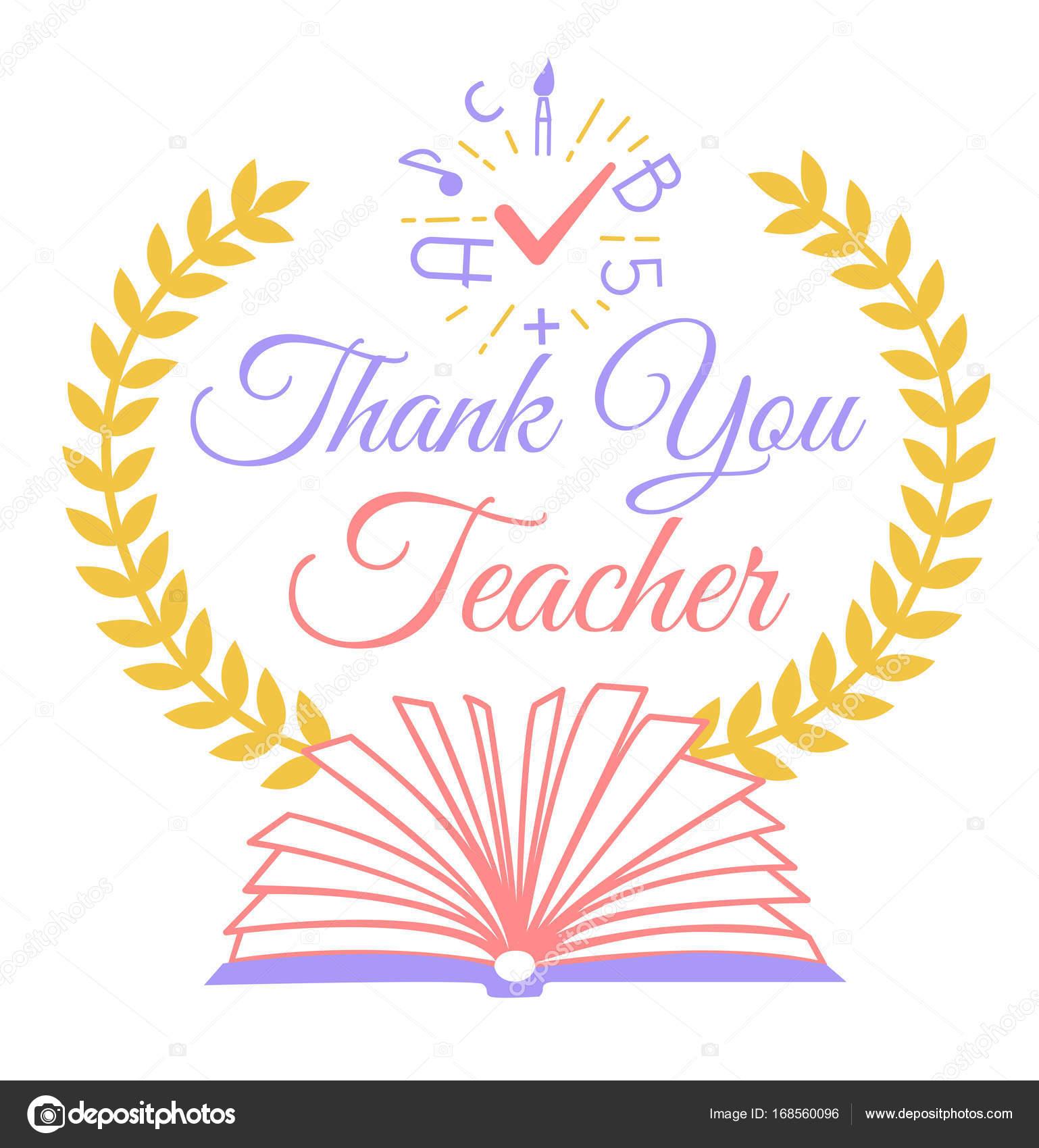 Greeting thank you teacher stock vector rodnikovay1 168560096 greeting thank you teacher stock vector kristyandbryce Choice Image