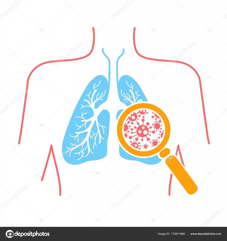 Ikone der Lunge Lungenentzündung — Stockvektor © rodnikovay1 #172811880