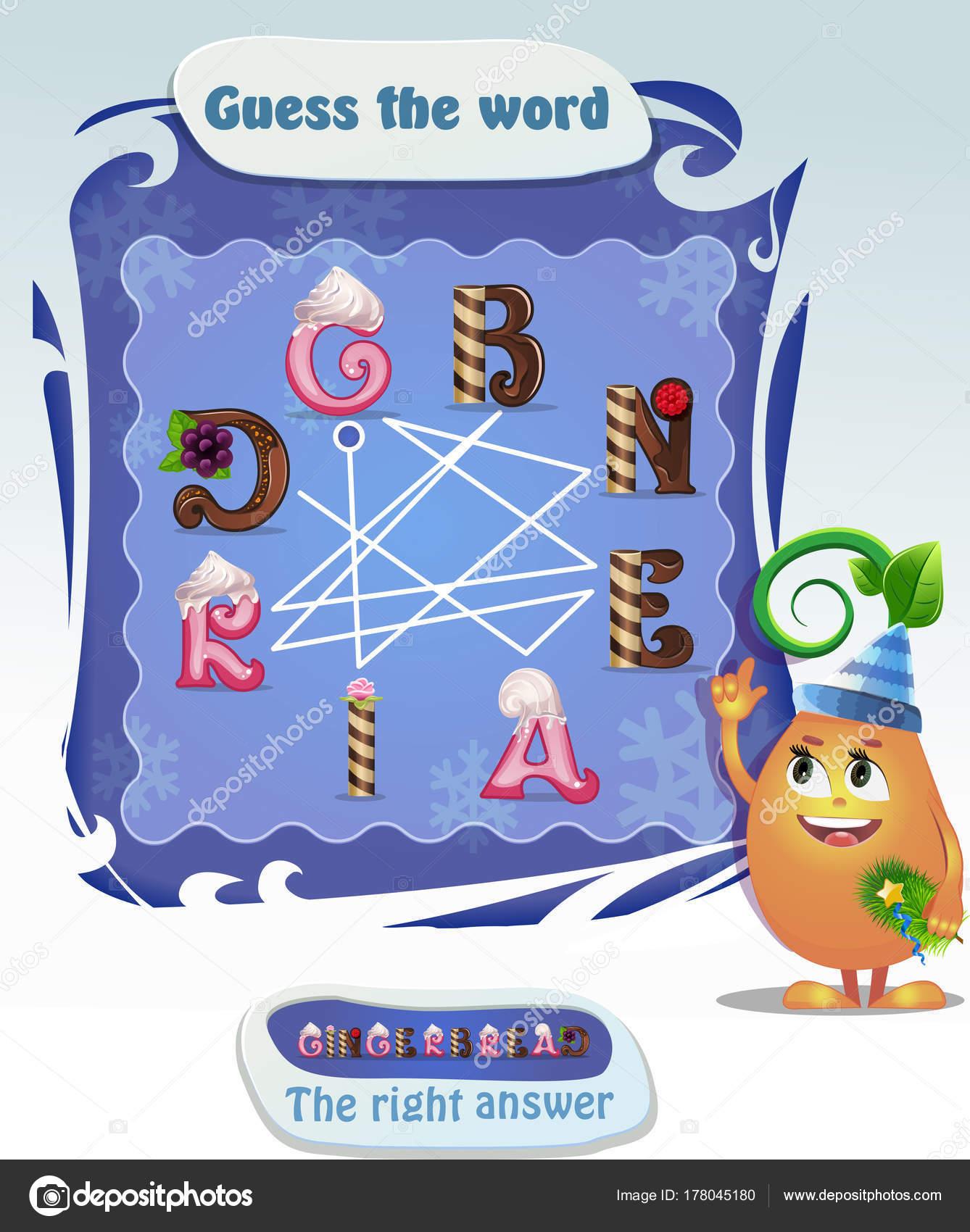 Wörter puzzle-Lebkuchen — Stockvektor © rodnikovay1 #178045180