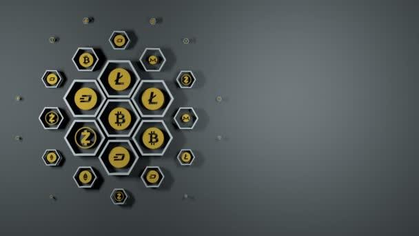 Loop připravené zázemí od kryptoměn ikony