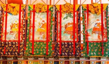 Buddhist thangkas, Tibetan Buddhist painting on cotton, or silk