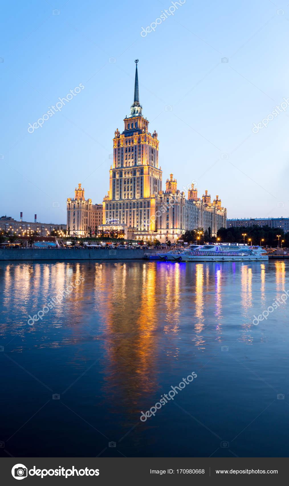 Moskou Rusland September 2017 Hotel Radisson Royal Voormalige ...