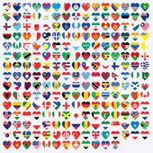 Heart Shaped Illustrated Flags of the World