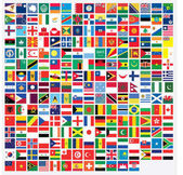 Square Shaped Illustrated Flags of the World
