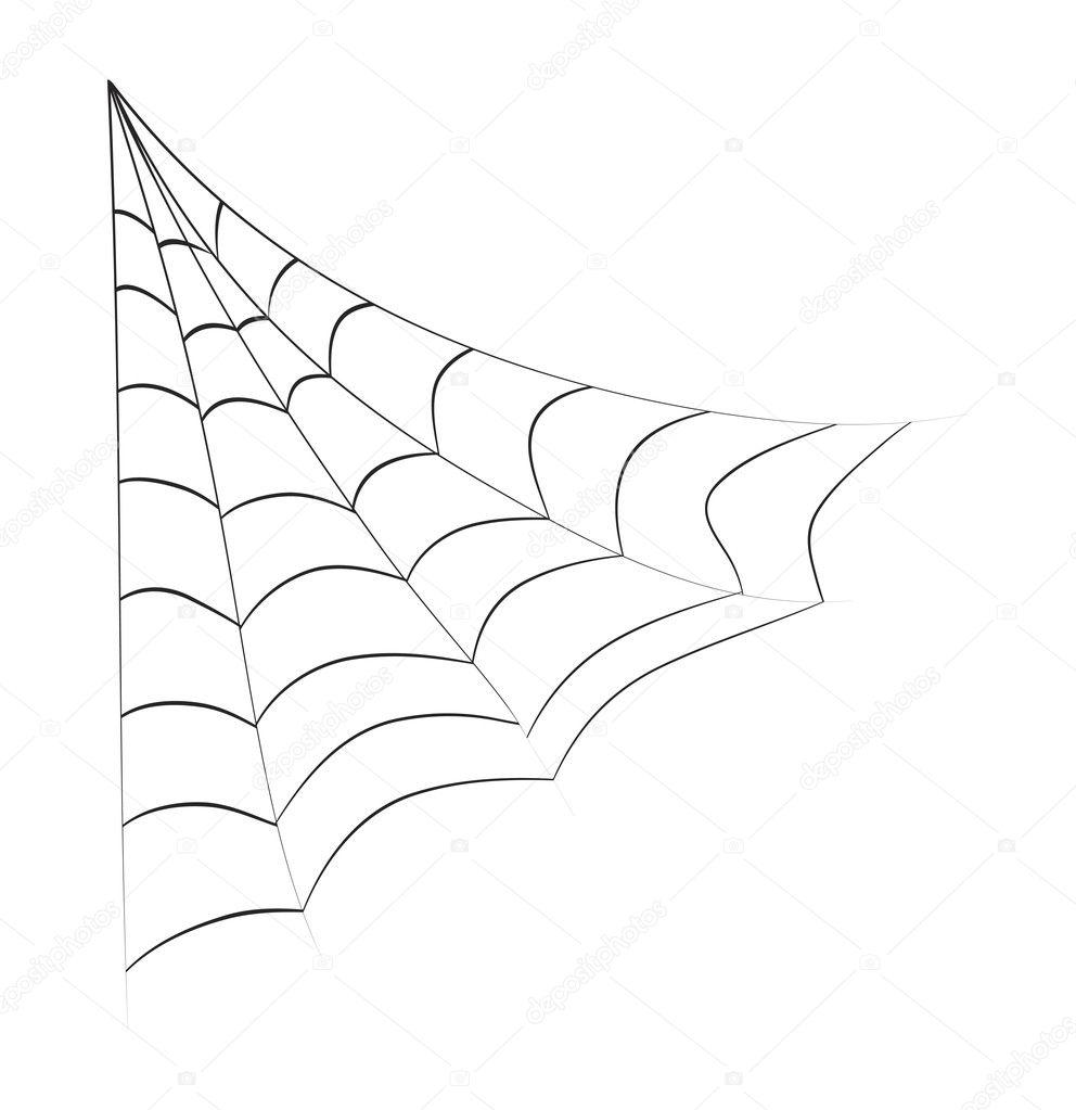 Halloween Toile D Araignée Vecteur Symbole Icône Design