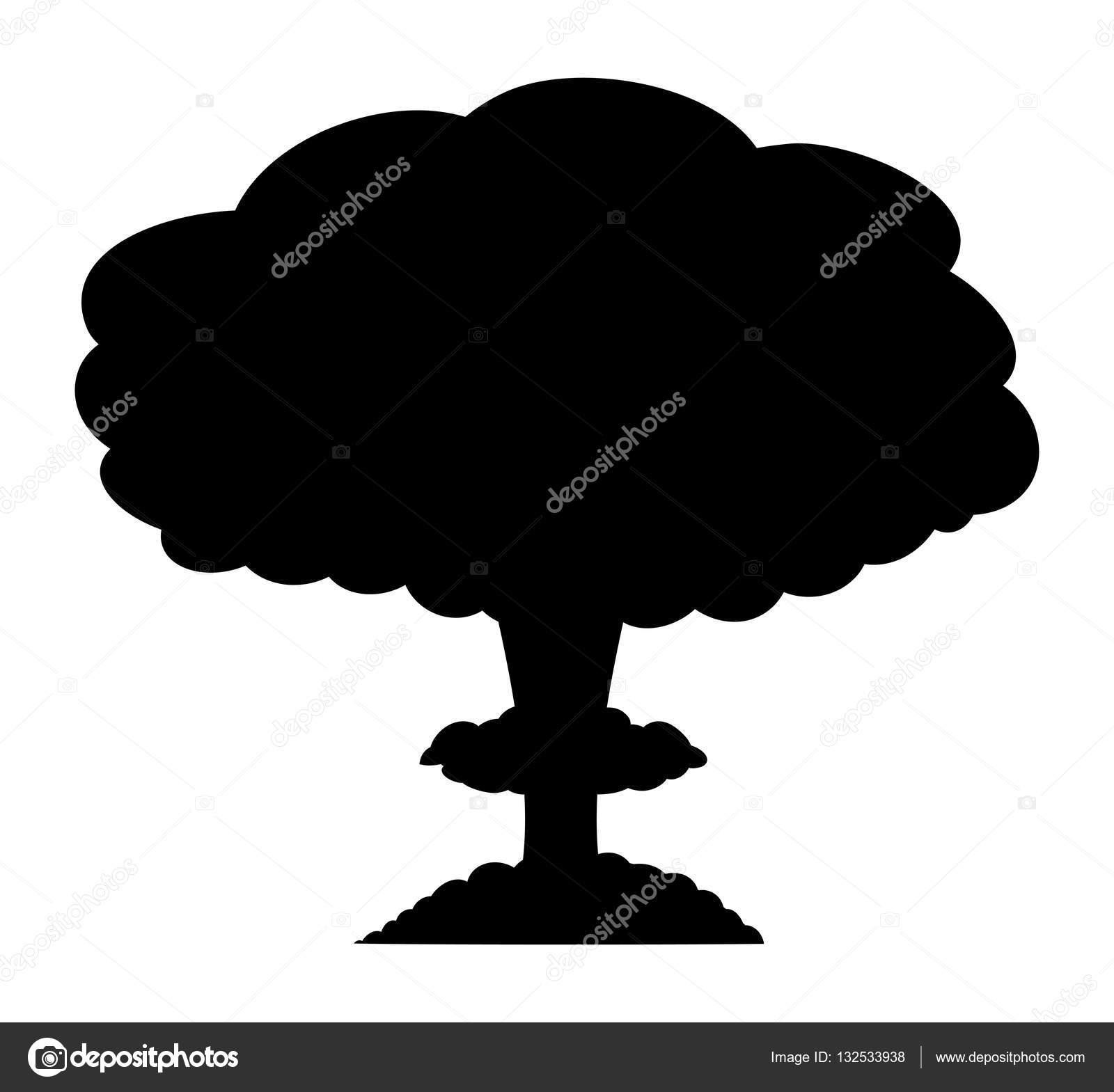 Depositphotos Stock Illustration Mushroom Cloud Nuclear Explosion Silhouette