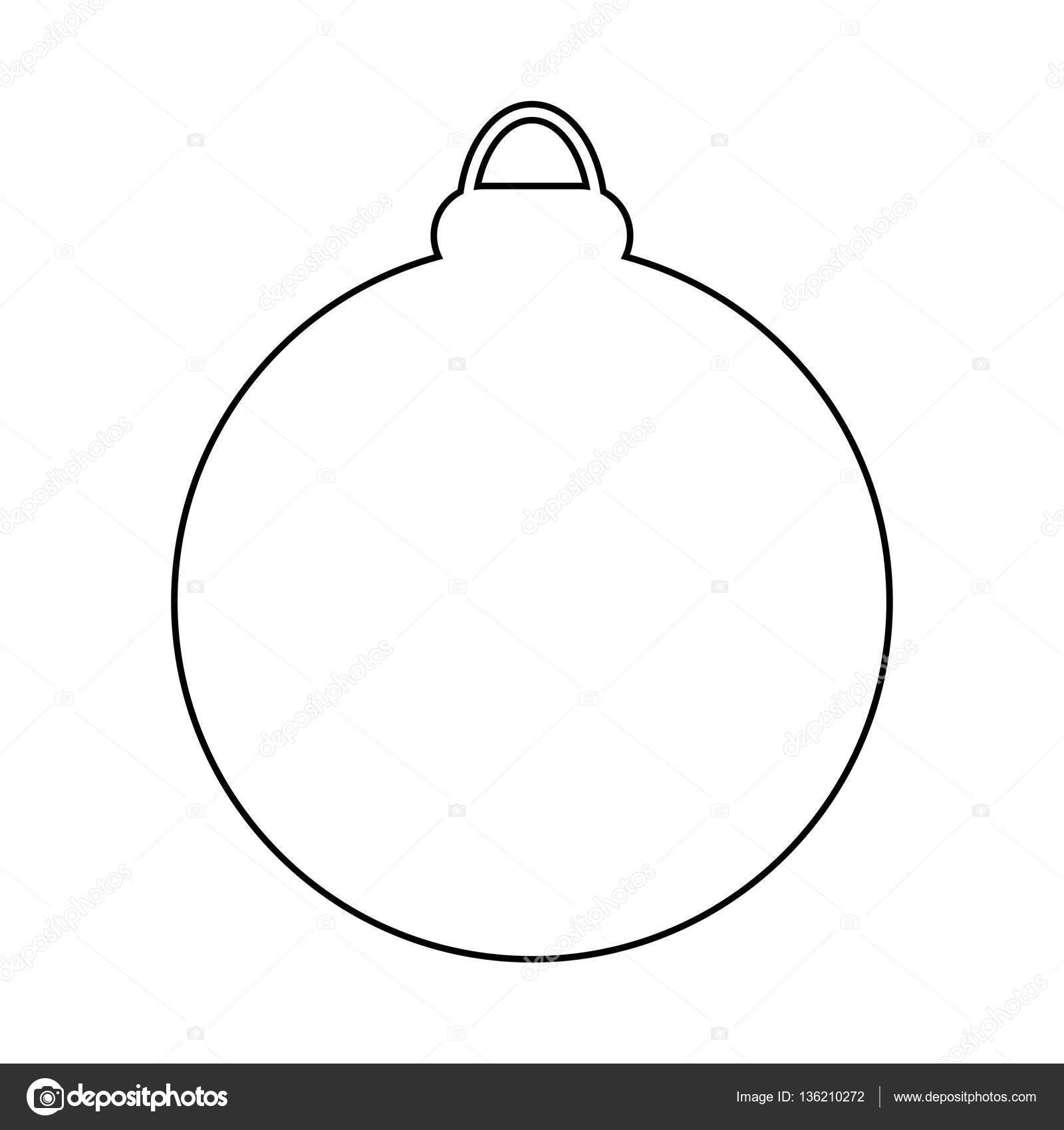 weihnachten christbaumkugel silhouette vektor symbol icon